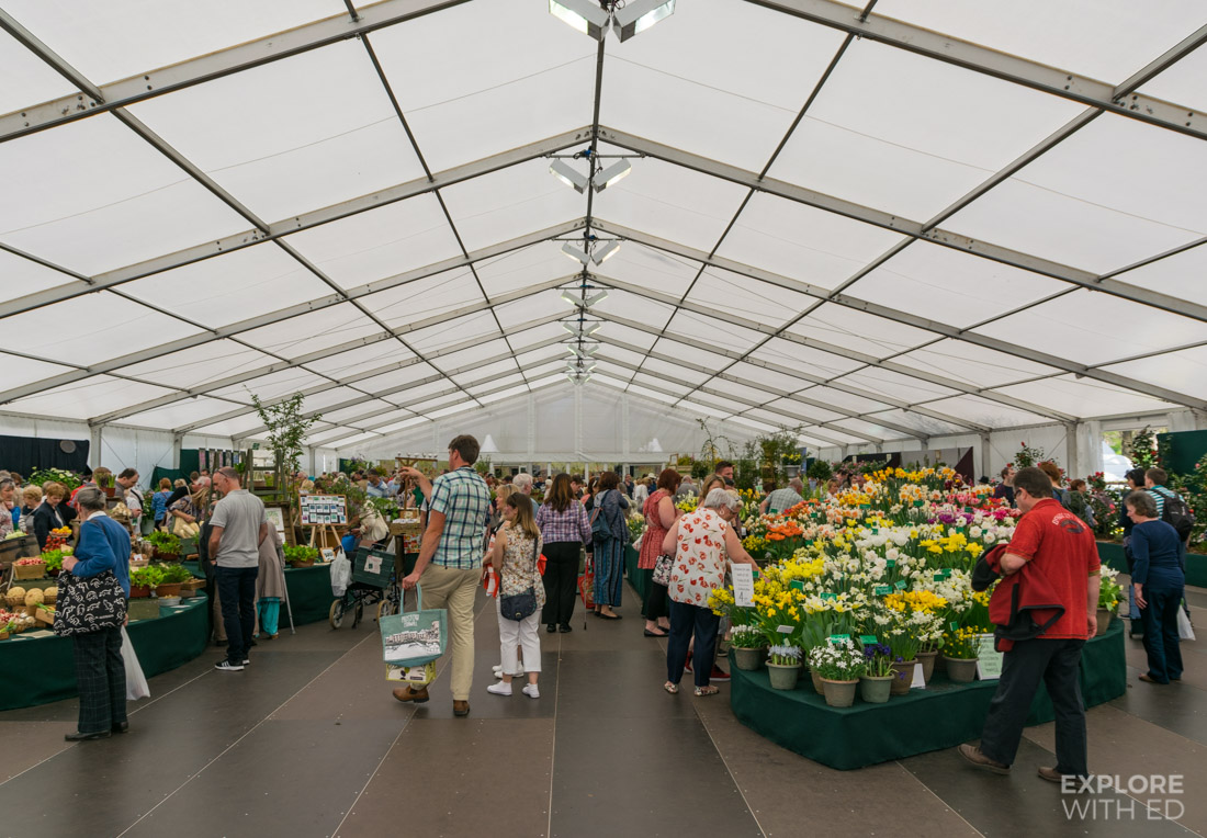 Flower Marquee at The RHS Flower Show Cardiff