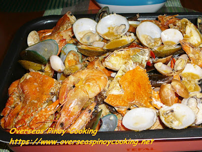 Pinoy Garlic Buttered Mix Seafood Recipe