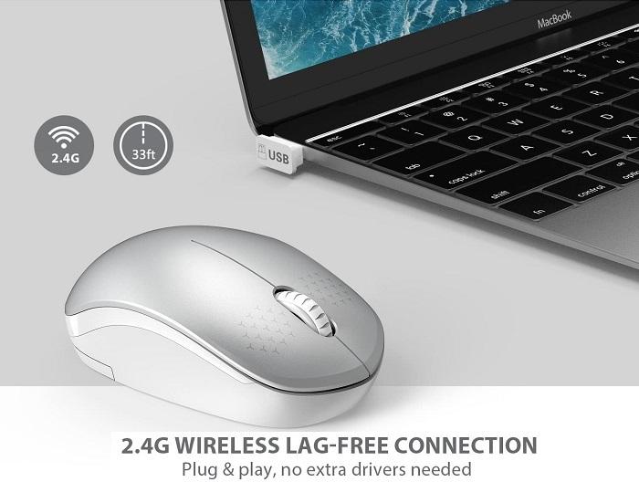 Seenda - #1 Best Noiseless Wireless Mouse [2.4G]