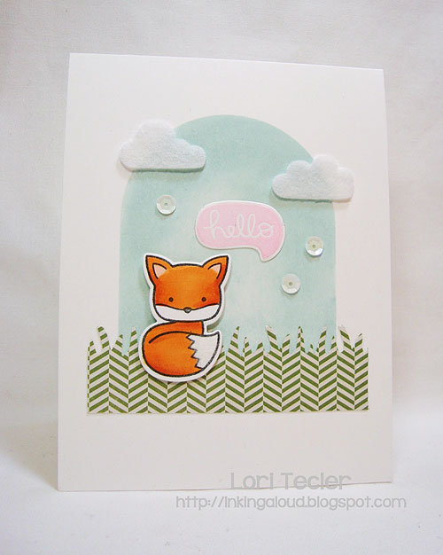 Hello-designed by Lori Tecler-Inking Aloud-stamps and dies from Lawn Fawn