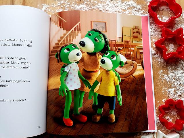 Rodzina Treflików. Czekamy na mamę - Trefliki - Znak Emotikon - Wioleta Firaza - Aleksandra Czuń - książeczki dla dzieci - czytanie wrażeniowe