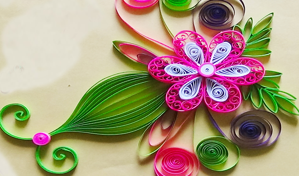 Paper quilling how to make a beautiful greeting card for Quilling strips designs