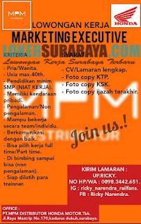 Loker Surabaya Terbaru di PT. MPM Distributor Honda Motor Tbk Juni 2019