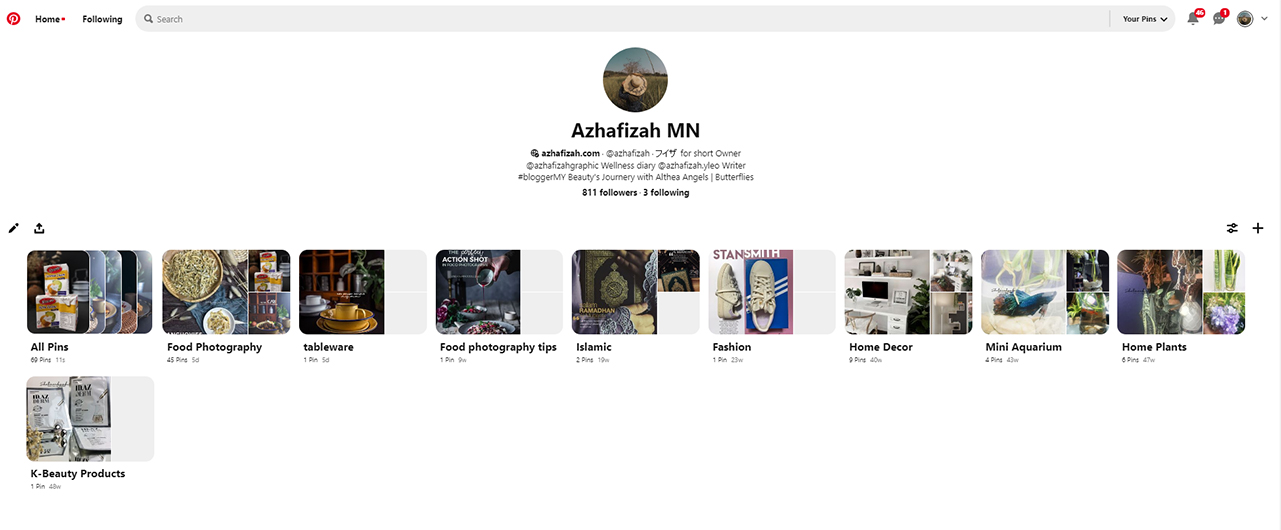Pinterest Azhafizah MN