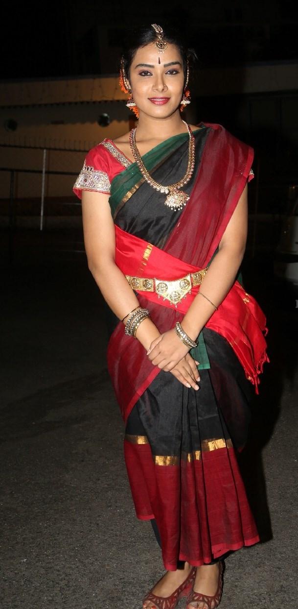 Telugu TV Actress Hari Teja Stills In Red Saree