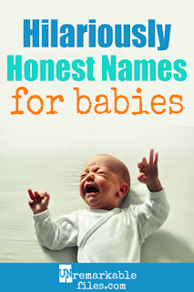 I've always laughed when new parents say they're waiting to name their baby until they see what s/he looks like. If you're being honest, you know that newborn babies look a little… funny. So if we actually named them after their looks, well, this article shows you exactly what would happen! #parentinghumor #baby #newborn #laughing #hilarious