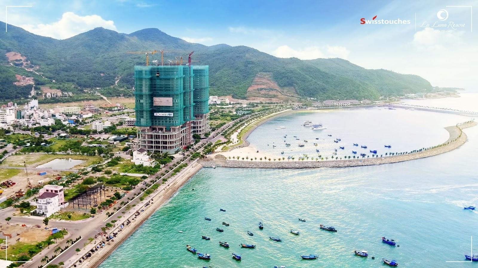 Cập nhật tiến độ xây dựng dự án La Luna Nha Trang tháng 11