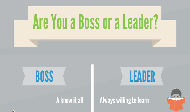 You're either a boss or a leader #infographic
