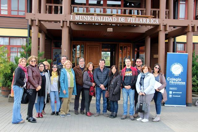Zona lacustre de La Araucanía recibió a dirigentes del Colegio de Periodistas