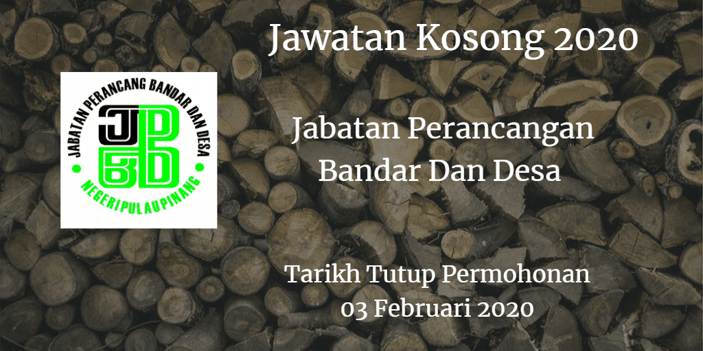 Jawatan Kosong PLANMalaysia 03 Februari 2020