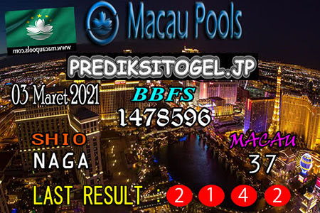 Prediksi Wangsit Togel Macau Rabu 03 Maret 2021