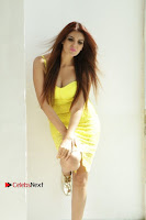 Actress Model Ihana Dhillon Poshoot Gallery in Yellow Lace Short Dress  0020.jpg