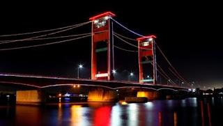 jembatan ampera, salah satu lokasi wisata di kota palembang