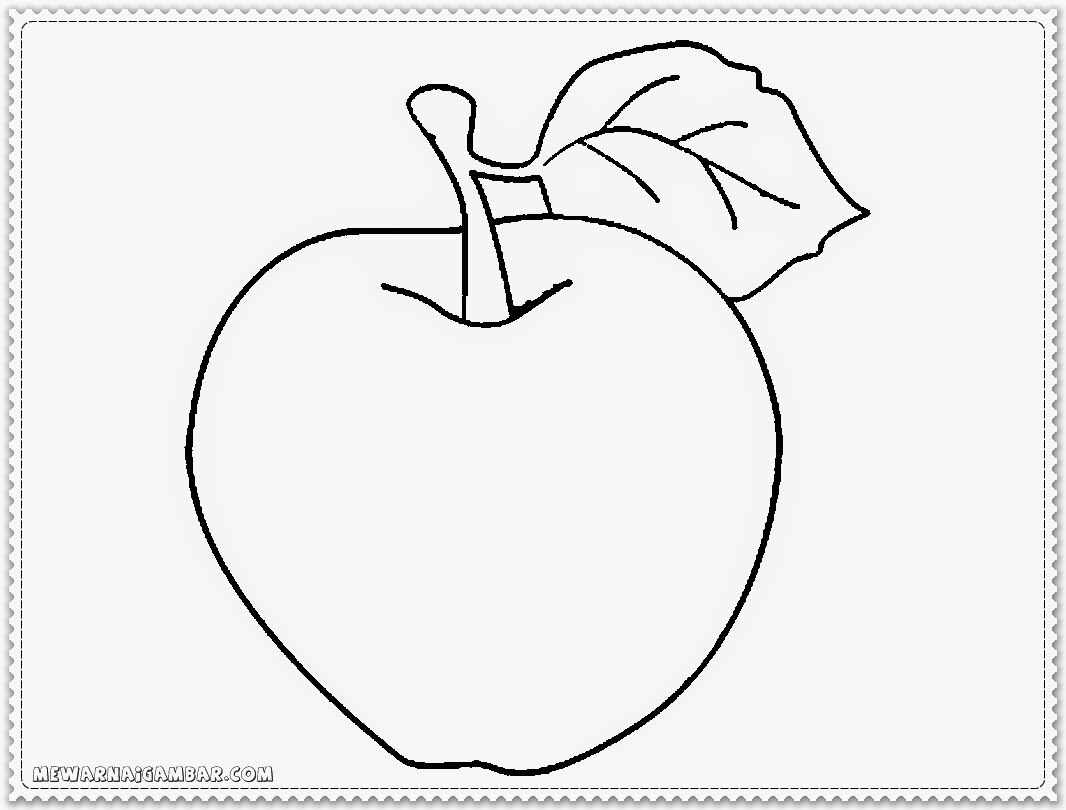 Apple Coloring Book Page