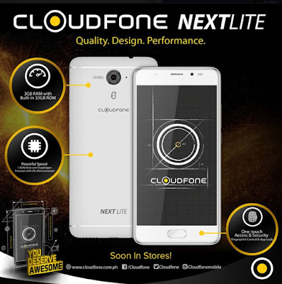 CloudFone Next Lite Announced; 5-inch FHD, Octa Core SD430, 3GB RAM for Php7,999