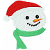 Snowman embroidery free design #67