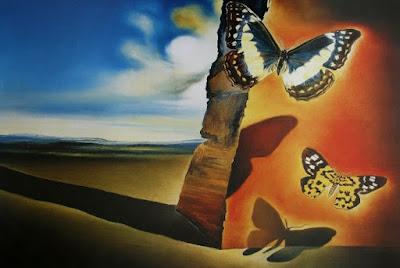paisaje con mariposas de Salvador Dali