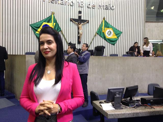 Deputada estadual Aderlânia Noronha (SD) cobra liberação de emendas parlamentares