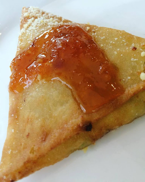 Deep Fried Kesong Puti with Spicy Pineapple Sambal