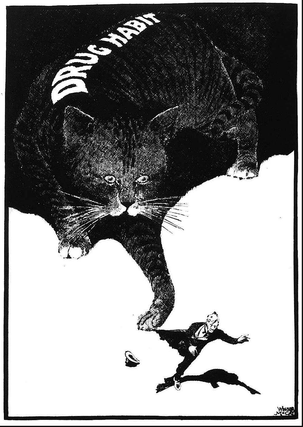 A Winsor Mccay cartoon about drug addiction