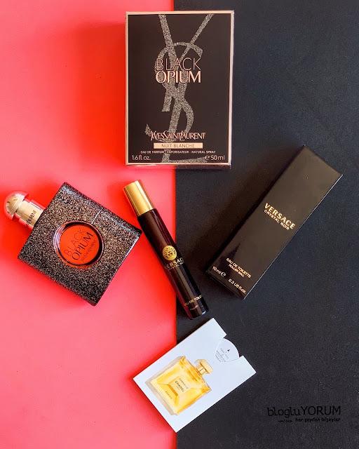 sephora wow alışverişim ysl black opium versace crystal noir