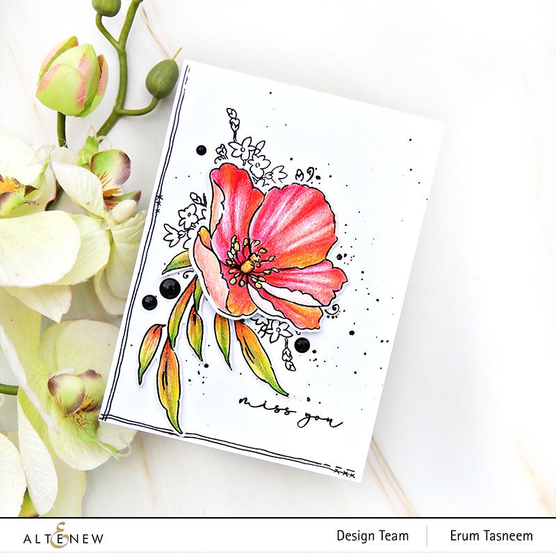 Altenew Fresh Bloom Stamp Set | Erum Tasneem |@pr0digy0