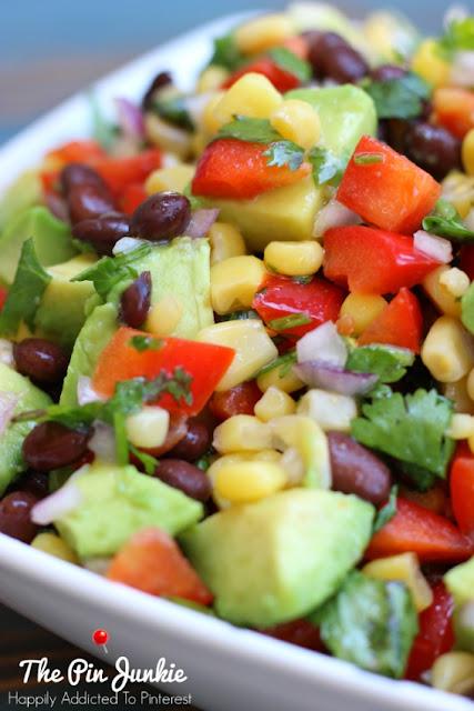 Southwest Salad with Honey Lime Dressing