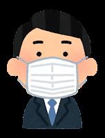 マスクを付けた人のイラスト(男性会社員)