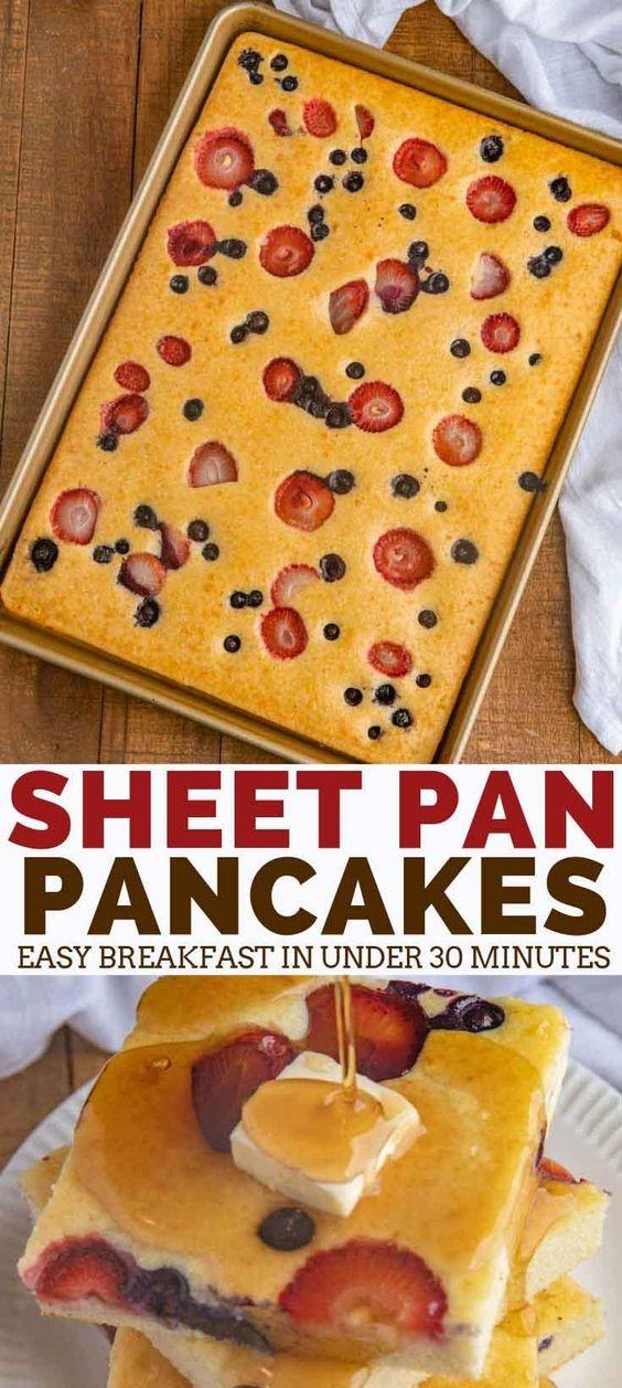 SHEET PAN PANCAKES | Angelica Vianna Food