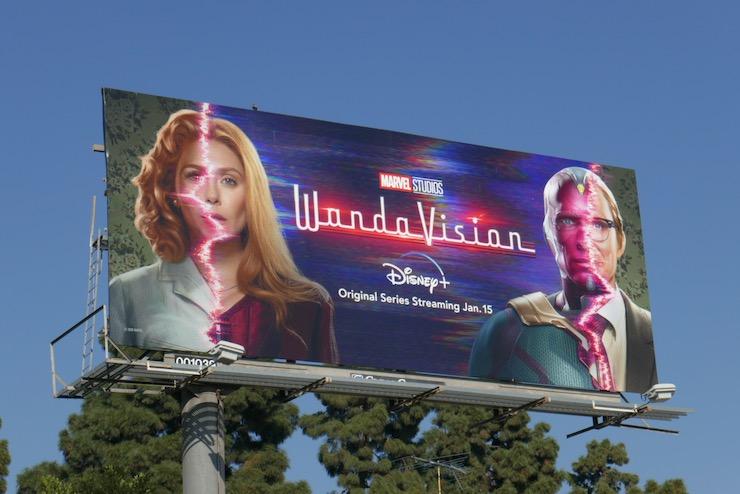 WandaVision Marvel Studios series billboard