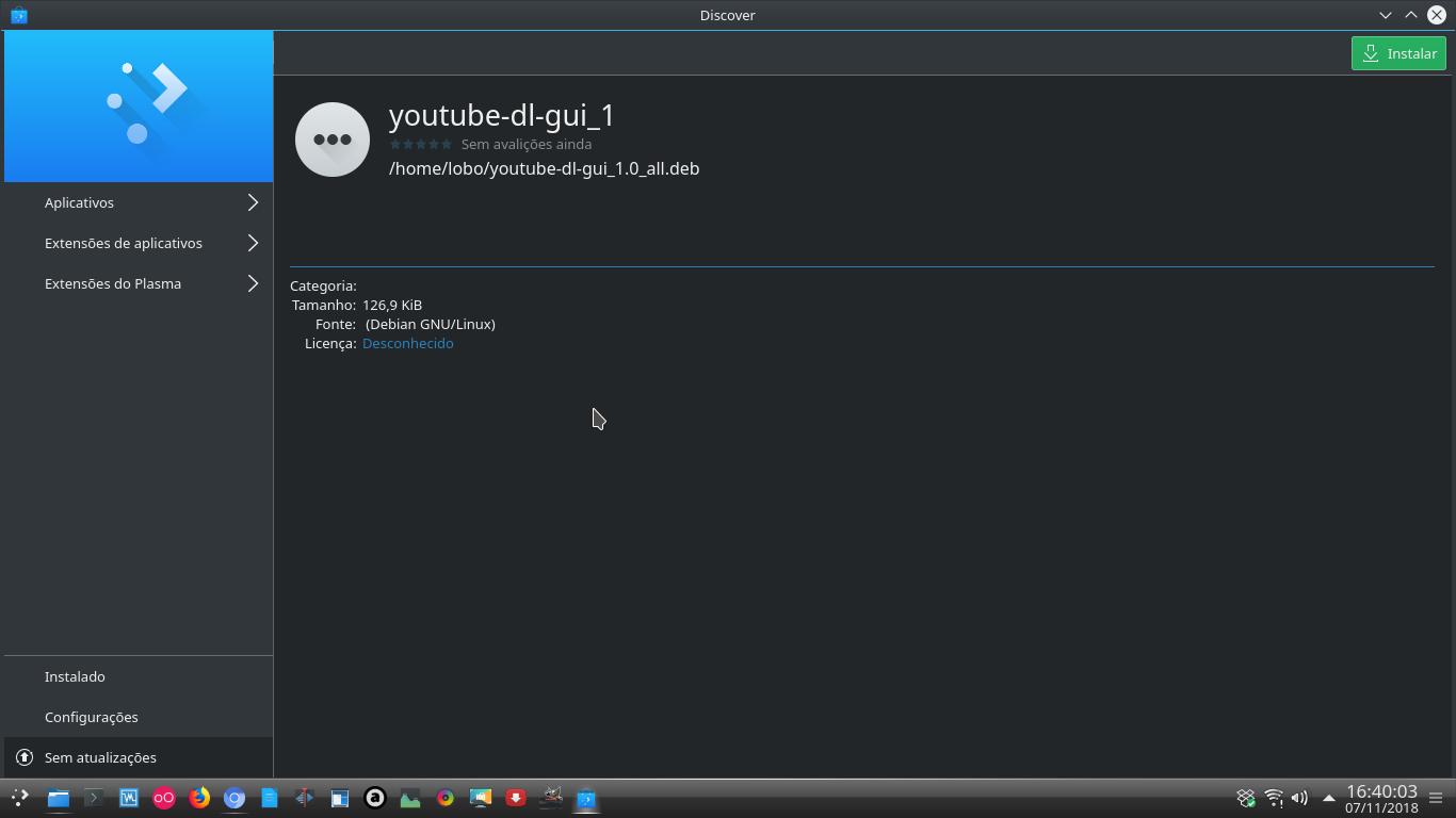 Linux dicas e suporte: Gerenciador de download Youtube-dlg, para