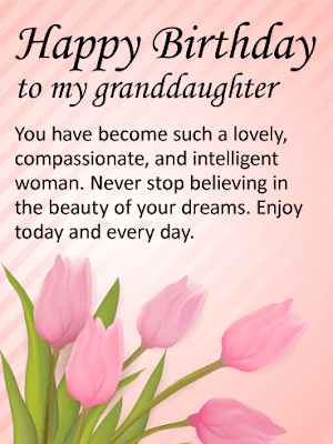 Birthday Wishes For Granddaughter In English