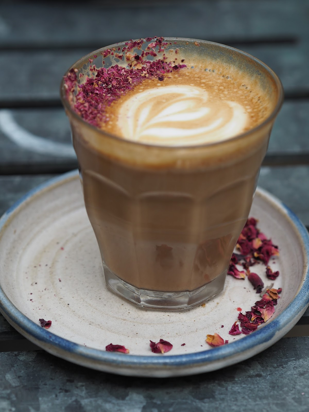 farm girl cafe rose petal latte