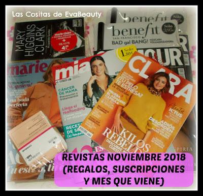 Revistas Noviembre 2018 (Regalos, Suscripciones y mes que viene)