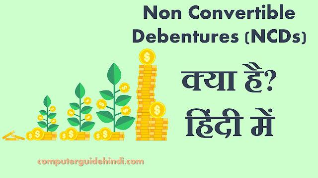 Non Convertible Debentures (NCDs) क्या हैं?