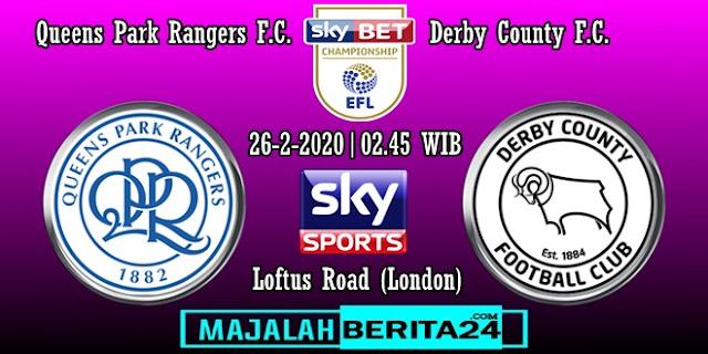 Prediksi Queens Park Rangers vs Derby County