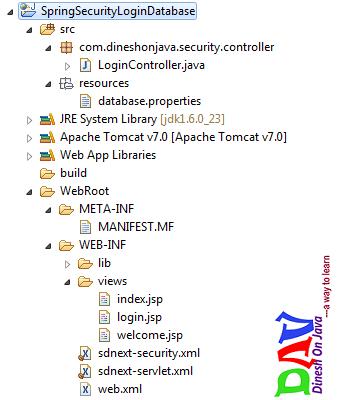 Spring Security Login Form Using Database