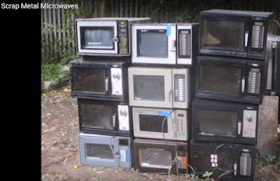Microwave ovens destined for scrap