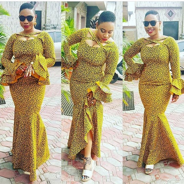 Latest Ankara Styles 2017 Long Gown Styles Dezango