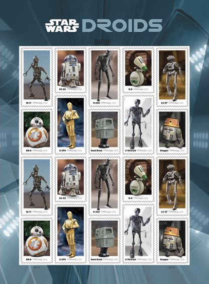 US Post Office Star Wars Stamps