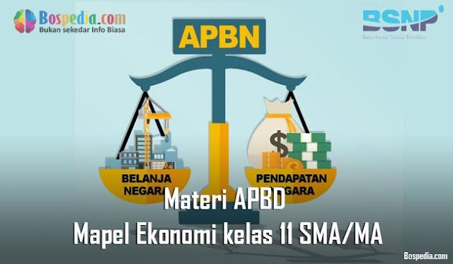 Materi APBD Mapel Ekonomi kelas 11 SMA/MA