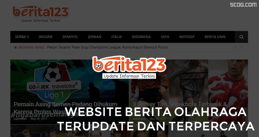 Berita123.com, Website Berita Olahraga Terupdate dan Terpercaya