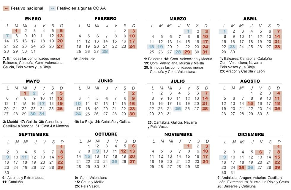 Calendario Escolar Aragon 19 20