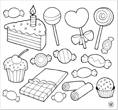Sweet lollipop coloring page-8