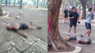 dua korban ledakan bom asap di monas