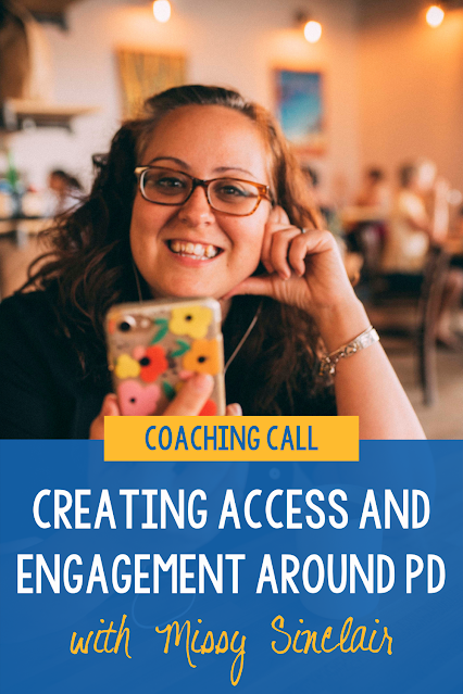 Does the teaching staff you work with ask for support? Creating engagement around professional development for teachers is not always easy. Luckily, there are things instructional coaches can do to help teachers improve their practice. Missy Sinclair joins me on The Coaching Podcast to talk through some of her coaching challenges. She also shares her successes, including how she creates PD boxes to engage teachers. Ready to listen? Click the link! #TeacherProfessionalDevelopmentIdeas