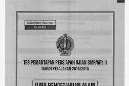 SOAL TPM atau TPPU tingkat SMP se-DIY (13-16 April 2015) IPA