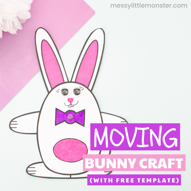 Moving bunny craft with bunny template