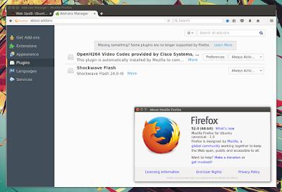 Firefox 52 plugins