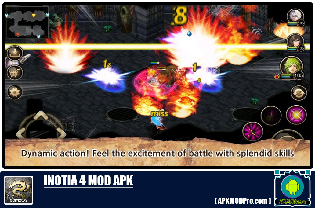 Inotia 4 MOD APK 1.3.1 [Unlimited Money/Skill/High Damage]